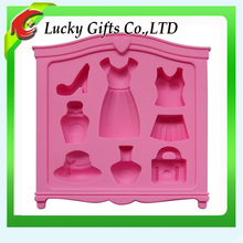 Hot sale Eco-friendly silicone cake mold of personal items for girl