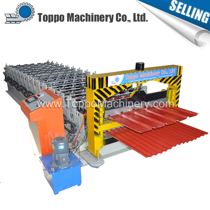 Building material custom panel and corrugated double layer roll forming