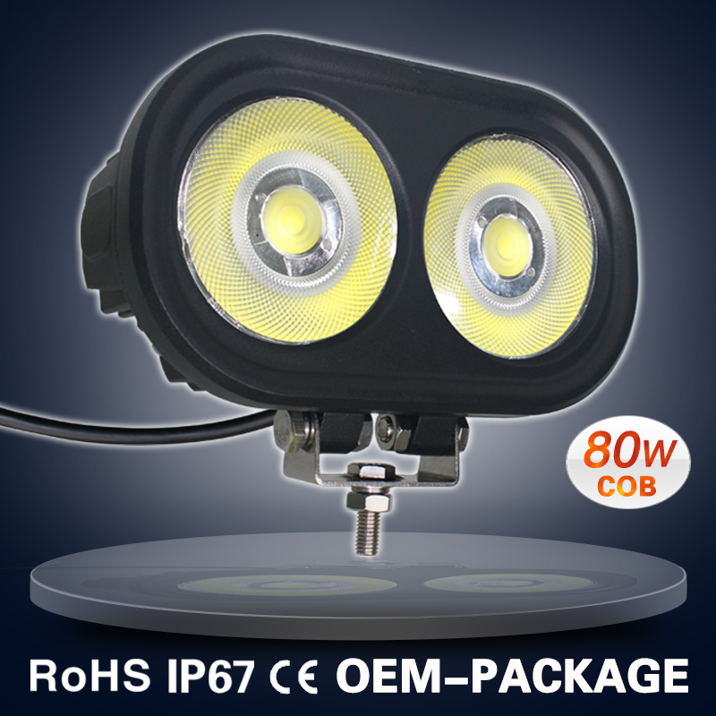9-60V new worklight led heavy equipment 80w 7 inch vehicles tractor