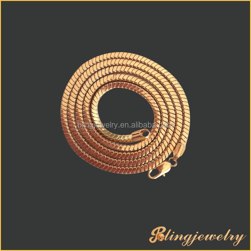 4mm brass box snake chain gold filled chain necklace jewelry
