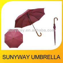 23 inches x 8 ribs Automatic Straight Hotel Umbrella For Rain