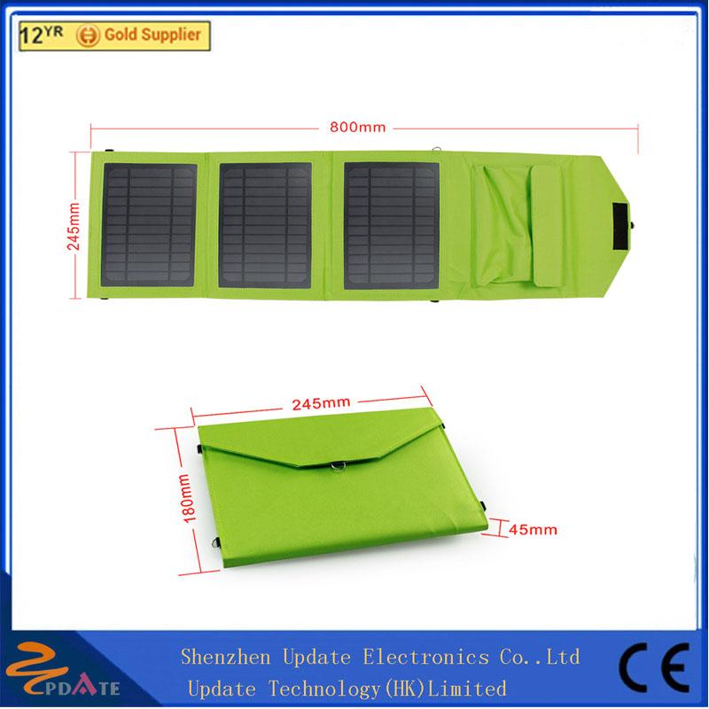 DC 5V 10.5w solar panel charger with PVC waterproof fabric