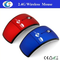 2.4ghz wireless foldable brand computer mouse for laptop PC