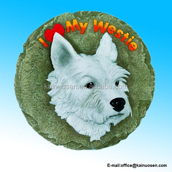 Polyresin Westie Stepping Stone