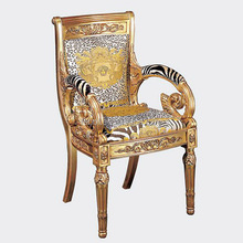 Luxurious customized furniture antique hand carved teak wood back chairs carving chair VC002