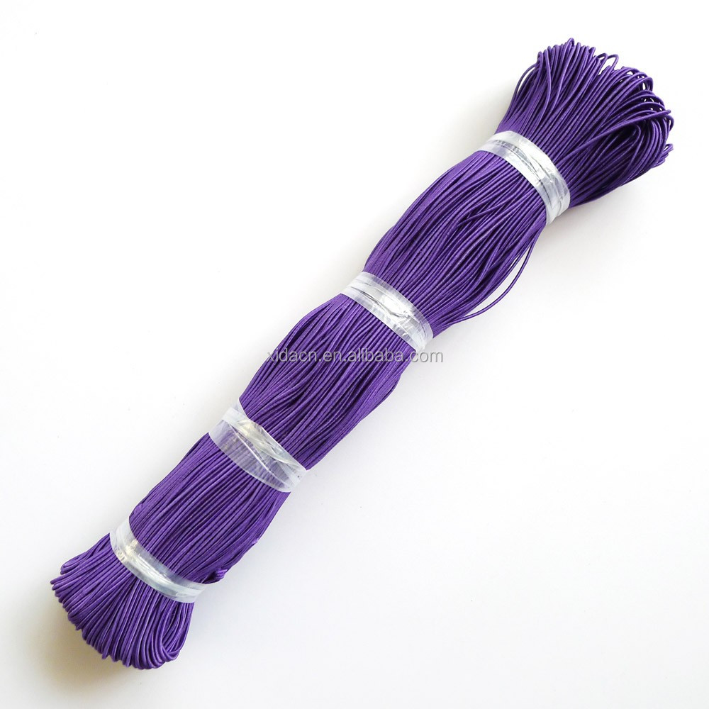 wholesale 150m/lot purple color 1.2mm jewelry making elastic strap