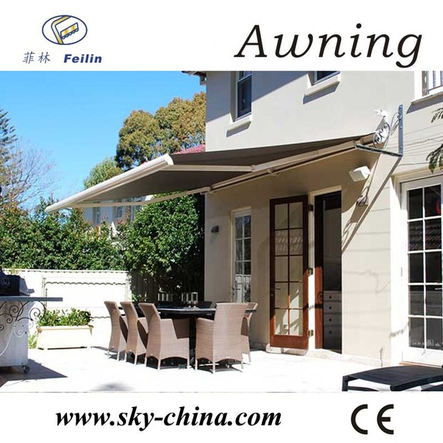 Outdoor aluminum cassette retractable awnings parts