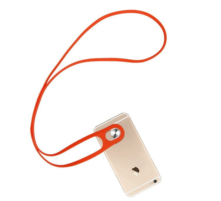Phone Strap For Made of Silicone and Metal, Various Color Available