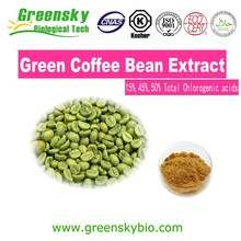 Green coffe bean extract,bulk powder green coffee bean extract