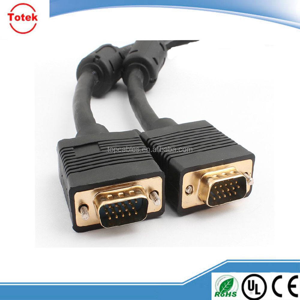 china factory wholesale vga to vga / dvi / rca cable with gold-plated connector