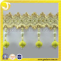 Soft Furnishings ,Plastic Beads Trimming Curtain Tassel Fringe Used to Cushions, upholstery, Lamp and Accessories Home Textile