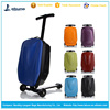 New style airport luggage travel bags luggage scooter suitcase with three wheels
