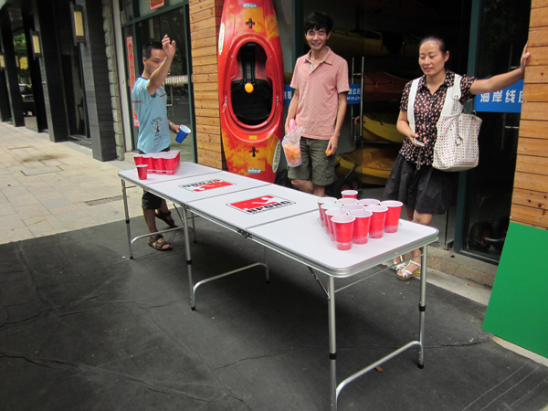4 Sections (2.4m 8') 2015 Folding Contracted Beer Pong Table