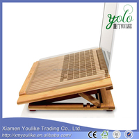 Adjustable Height cheap laptop stand bamboo Laptop Cooling Stand