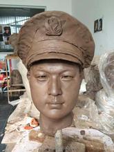 Clay Sculpture Of the Clay or Mud Draft of Industrial&commerical staff