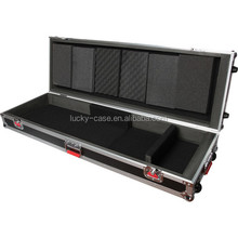 Flight Case for Keyboard Aluminum Keyboard Case with Reinforced Stackable Ball Corners