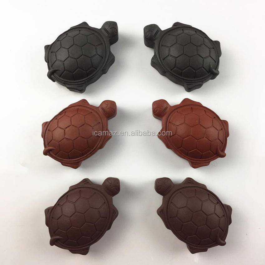 Multicolor Germanium Massage Turtle With Tourmline stone for head skin and body massage