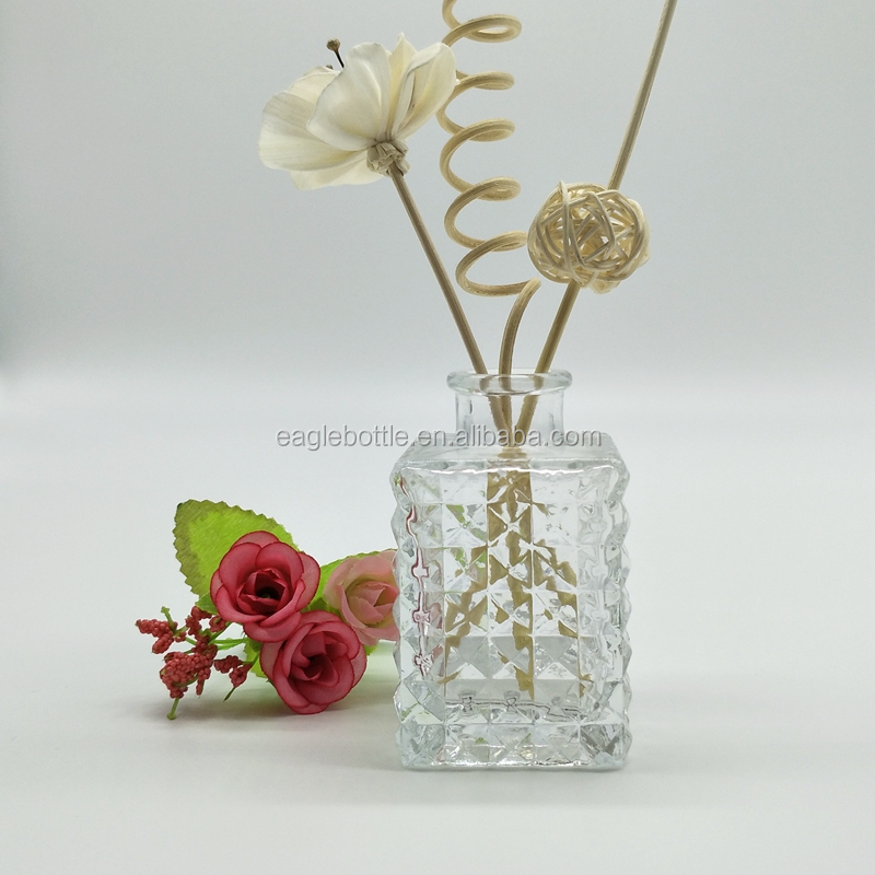 New product 50ml 100ml cube design air freshener bottle/aroma diffuser bottle