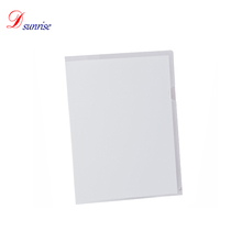 Decorative plastic clear clamp file folder for A4 paper