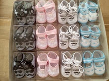 Many design newborn baby christening shoes in bulk