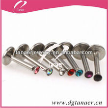 personalized stainless steel free lip rings