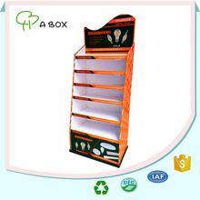 6 shelf corrugated cardboard display shelf