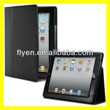 NEW Folio BLACK LEATHER FLIP MAGNETIC PROTECTOR CASE COVER STAND for APPLE IPAD 2 for IPAD 3 for iPad 4