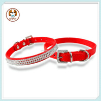 Factory Sale Pet Products 3 Rows Diamond Studded Rhinestone Pet Dog Cat Collar