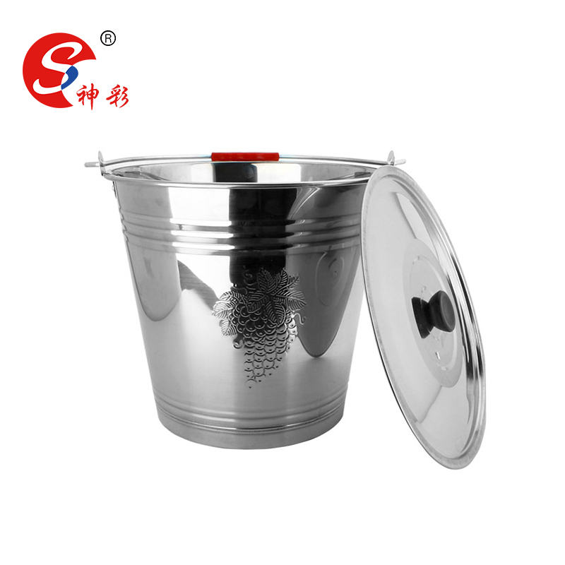 Houseware stainless steel water bucket / 16 liter metal water pail