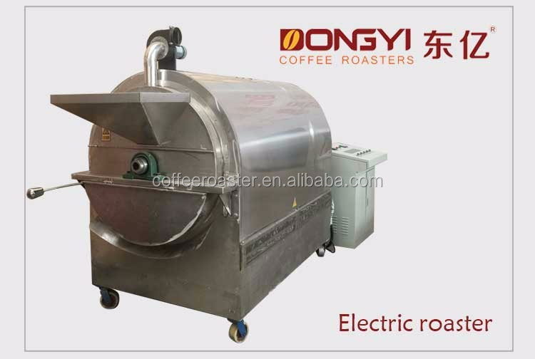 Electric Infrared Heater Rotary Drum Nut Roaster Oven