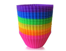 24 Pack Reusable Silicone Baking Cups / Wholesale Cupcake Liners