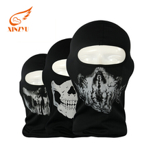 Hot sale Military Motorcycle Mask Balaclava Reflective CS Game Skull Face Mask Balaclava With Thick Cotton Fabric