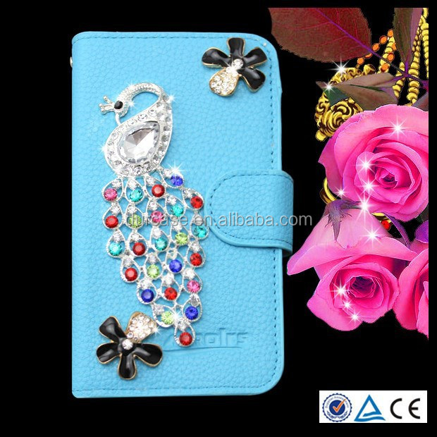 Flip Bling Flower Case PU Cover for zte open c