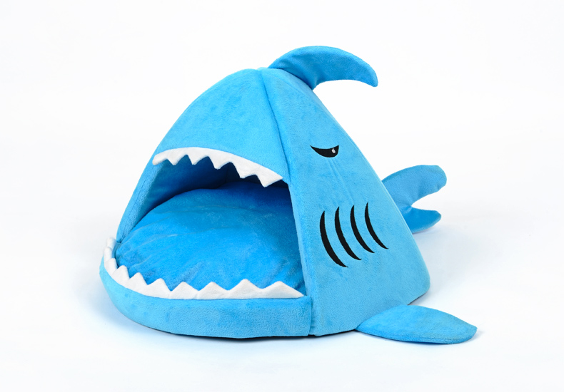 custom wholesale memory foam shark pet dog house for sale dog beds washable