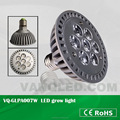 Grow Par Light 7w For Hydroponics System LED Lamp Waterproof With 120 Degree Beam Angle For Aquaponic Device 2 Years Warranty