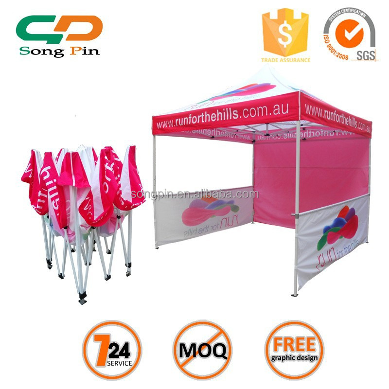 guangzhou aluminum ez up canopy tent with side for sale