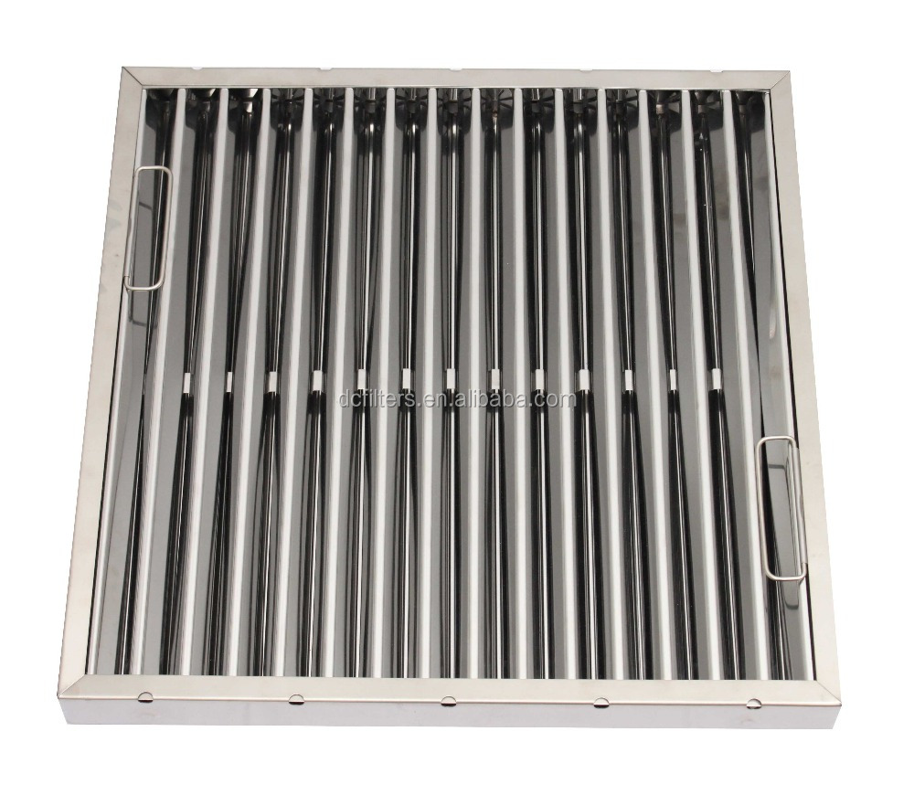 List manufacturers of stainless steel baffle grease filter for Commercial kitchen grease filters