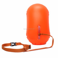 Lightweight Custom Logo Inflatable Buoy Floating Dry Bag Waterproof Favorable Swim Aid Safe Buoy Bag Swimming Partner