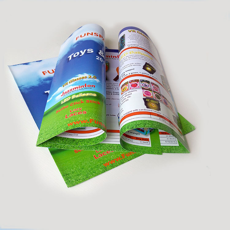 Custom Full Color Printed Business Advertising Tri Fold Brochure Printing Service