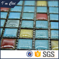 High quality non-slip swimming pool colorful ceramic mosaic tiles