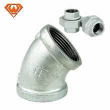 good quality of hot dipped galvanized malleable casting iron pipe fittings with banded type for water use