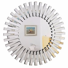 round plastic mdf 3d venetian wall hanging mirror furniture