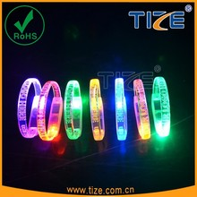 lighting led motion activated wristband hot sell 2016 for wedding engraved party favors