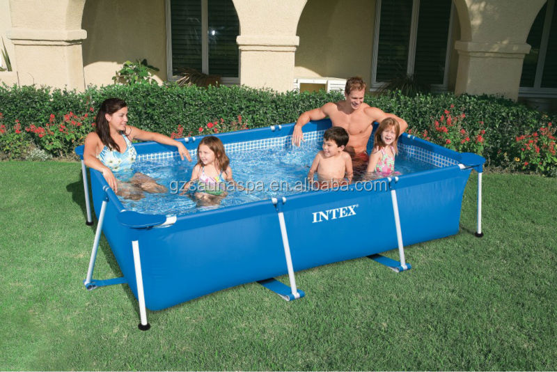 Above ground intex swimming pool