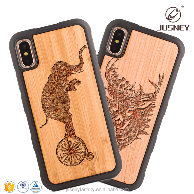 Special Wood Mobile Phone Case for iPhone x, Laser Engraving cell phone case for iPhone x, blank phone case base