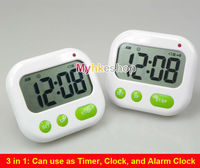 Alarm Clock Timer CountDown Digital LCD 24 hours Kitchen Sport ( Music / Vibration)
