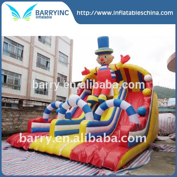 Red Clown Commercial Cheap Giant Inflatable Slide