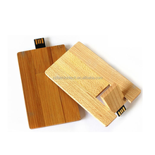 Eco-friendly wood business credit card usb flash drive