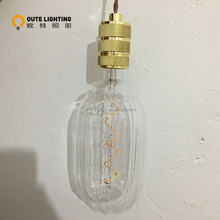 Vintage Edison LED Light Bulb Lamp TR110 Dimmable No Flicker Spiral Flexible LED Filament Bulb E27 Screw Base [Energy Class A++]