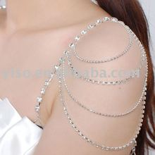 decorative circle rhinestone bra strap
